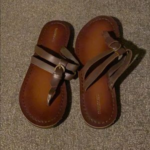 Maurice's faux leather sandals, size 10